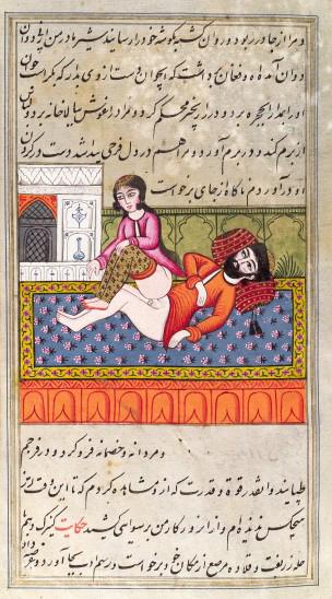 L0033086 Persian couple copulating