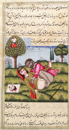 L0033273 Persian couple copulating