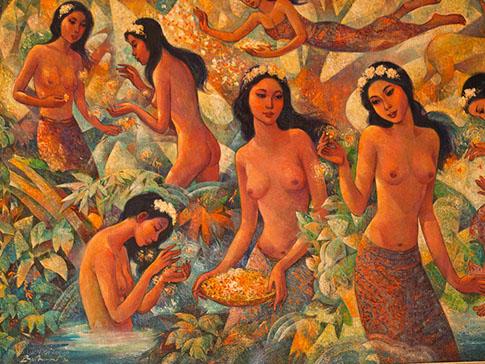 Painting at Neka Art Museum Ubud Bali
