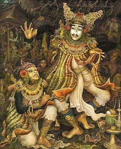 Tarian Bali dalam karya lukisan