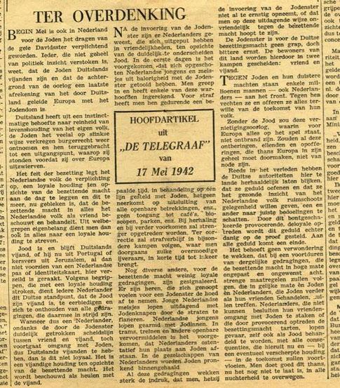 Telegraaf ter overdenkingklein